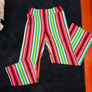 EXPRESS wide leg stripe pant